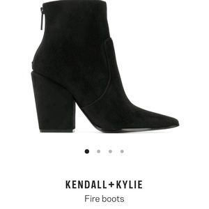 Kendall and Kylie black suede booties size 8.5